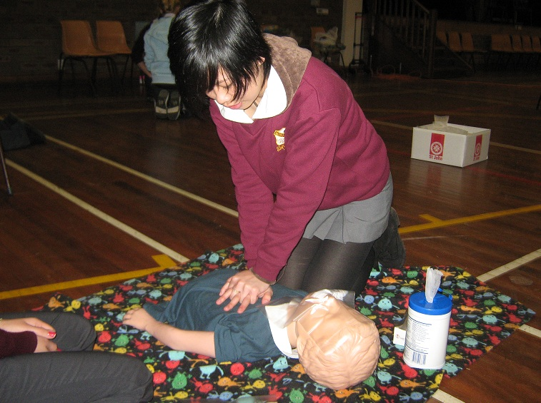 Senior students complete their First Aid certificate