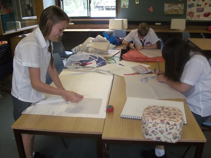 Students hard at work in Textiles and Design