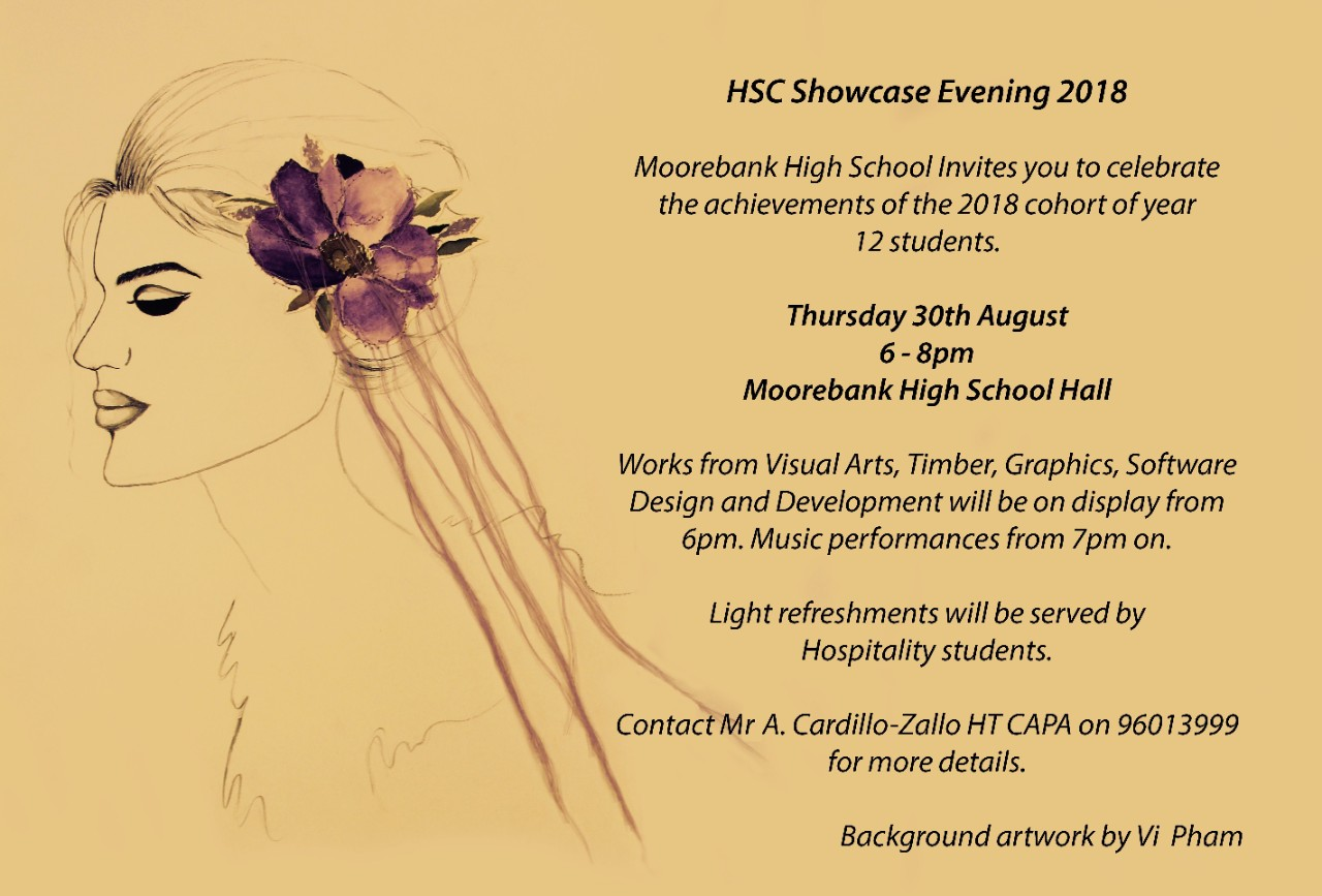 Hsc Showcase Evening 2018 Moorebank High School